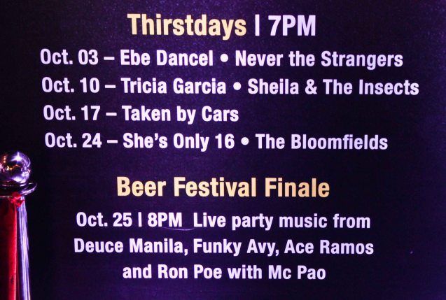 EASTWOOD Beer Fest schedule: catch these bands' free live performances and different kinds of beer.