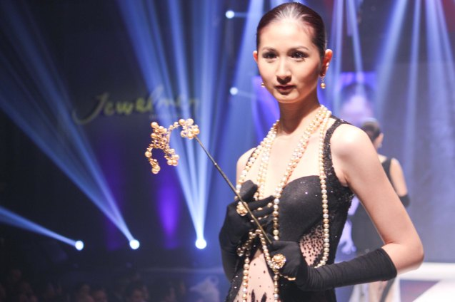 from the VIA ROSA collection by Jewelmer, clothes designed by Albert Andrada. Photo was taken during the Jewelmer Gala at the NBC tent last October 15, 2013. Photo by Jude Bautista