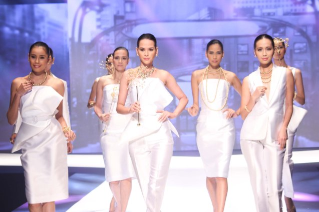 from the GUIMARD collection by Jewelmer, clothes designed by JC Buendia. Photo was taken during the Jewelmer Gala at the NBC tent last October 15, 2013. Photo by Jude Bautista