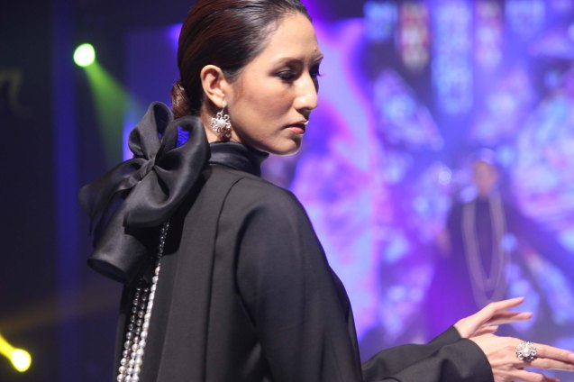 from the ROSONE collection by Jewelmer, clothes designed by Jojie Lloren. Photo was taken during the Jewelmer Gala at the NBC tent last October 15, 2013. Photo by Jude Bautista