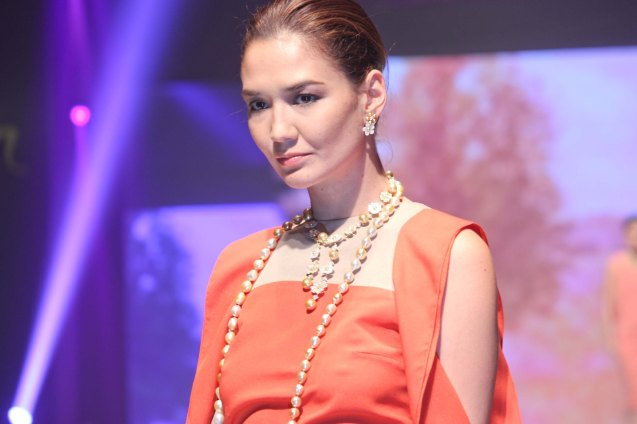 from the PETIT FLEUR collection by Jewelmer, clothes designed by Patrice Ramos Diaz. Photo was taken during the Jewelmer Gala at the NBC tent last October 15, 2013. Photo by Jude Bautista