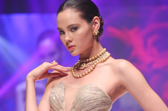 from the DOLCE ROSA collection by Jewelmer, clothes designed by Randy Ortiz. Photo was taken during the Jewelmer Gala at the NBC tent last October 15, 2013. Photo by Jude Bautista