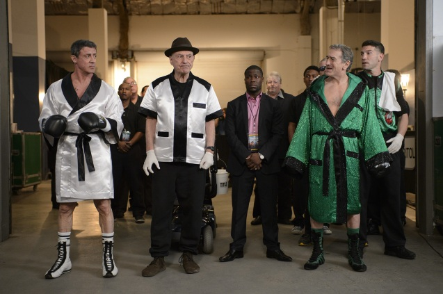 Grudge Match cast from left: Sylvester Stallone, Allan Arkin, Kevin Hart and Robert Deniro. The film will be released this Christmas in the U.S. and January 2014 in the Philippines.