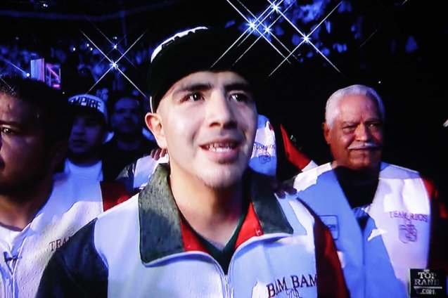 Rios reportedly gained too much weight after the weigh ins, which explains why he was so much slower than Pacquiao.