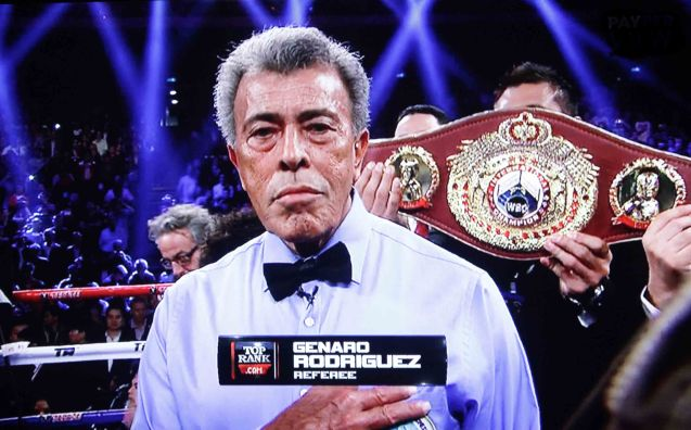 Columnist Quinito Henson was disappointed by the refereeing of Genaro Rodriguez who did not contain Rios dirty tactics.