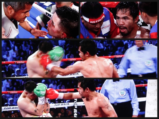 After seeing how broken Rios was physically Singson surmised that Pacquiao intentionally did not give more punishment not wanting to give permanent damage.