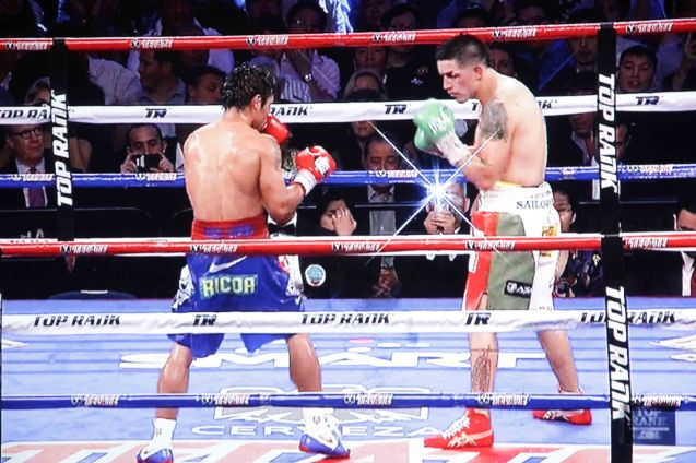 Pacquiao dominate Rios with quick footwork and hand speed through out the fight last November 24, 2013.