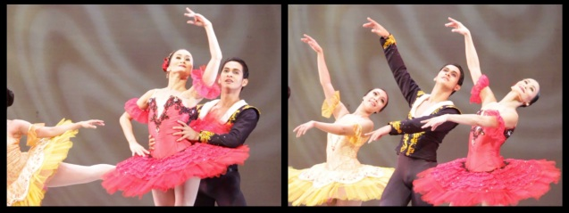 PAQUITA GRANDE DISVERTISSEMENT (left) Lisa Macuja in red   and Rudy de Dios. THE LEGENDS AND THE CLASSICS ENCORE was held at the CCP last Oct 12, 2013. Catch Lisa's other performances: La Bayadere—Nov. 17, 730pm, The Nutcracker gala is on Nov. 29, 730 pm, Dec. 1 and 7, 3pm And Heart 2 Heart: Ballet & Ballads, Feb 21, 2014 730pm all at the Aliw Theater. Photo by Jude Bautista