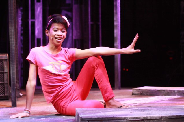 Maxie title role is played Jayvhot Galang. He has the pipes and can dance too. Catch MAXIE THE MUSICAL at from Nov 9-Dec 8, 2013 at the PETA Theater Center. Photo By Jude Bautista