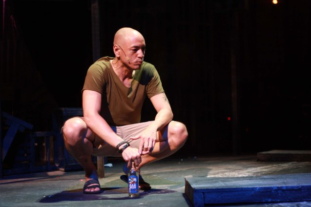 Boy (OJ Mariano) is lost in his own thoughts. Catch MAXIE THE MUSICAL at from Nov 9-Dec 8, 2013 at the PETA Theater Center. Photo By Jude Bautista