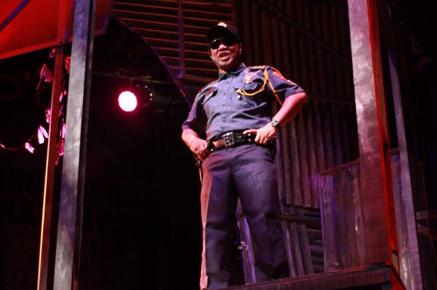 Chief Dominguez is played by Greg De Leon. Catch MAXIE THE MUSICAL at from Nov 9-Dec 8, 2013 at the PETA Theater Center. Photo By Jude Bautista