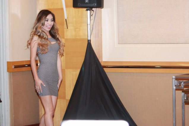 Jessica Sanchez has gotten more curvy and sexy since her first trip here. Press con was held at SOFITEL Phil Plaza Dec. 9, 2013. Jessica will also have a New Years concert at Eastwood Mall. Photo by Jude Bautista