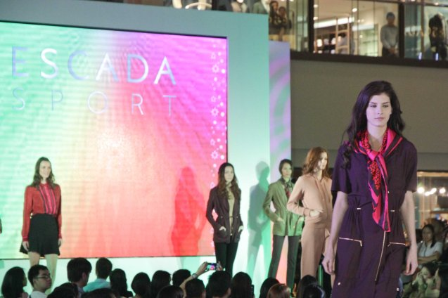 Escada Sport at the Fashion Rhapsody 2013: The Shang Holiday Fashion Show, Grand Atrium of Shangri La Plaza Mall last Nov. 23, 2013. Photo by Jude Bautista