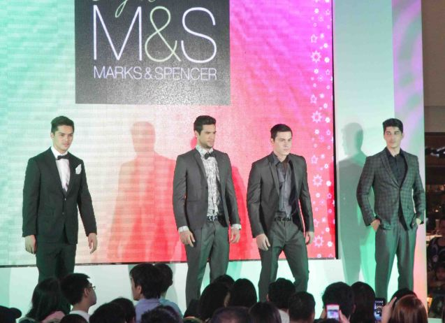 MARKS & SPENCER at the Fashion Rhapsody 2013: The Shang Holiday Fashion Show, Grand Atrium of Shangri La Plaza Mall last Nov. 23, 2013. Photo by Jude Bautista