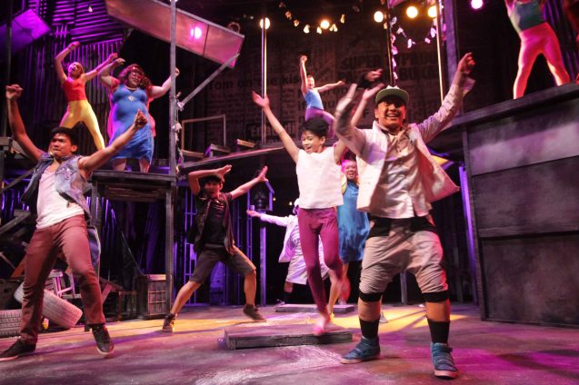 Elaborate dance sequences are part of Dexter M Santos style. Catch MAXIE THE MUSICAL at from Nov 9-Dec 8, 2013 at the PETA Theater Center. Photo By Jude Bautista