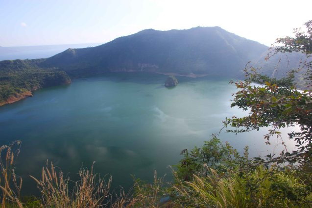 Taal Volcano's inner lake. Photo by Jude Bautista