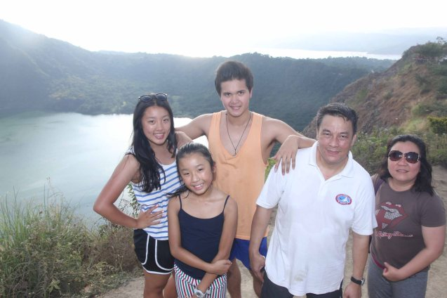 from left: Kimmy, Hannah, Alfonso, Donald and Hazel Bautista. Photo by Jude Bautista