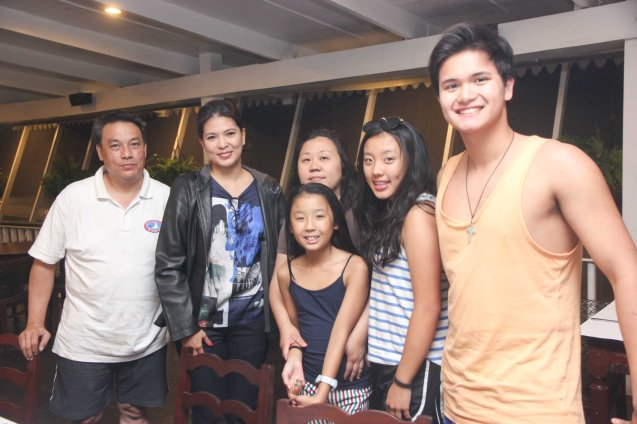 from left: Donald Bautista, Congresswoman Lani Mercado-Revilla, Hazel and two daughters Hannah and Kimmy and Alfonso Bautista. Photo by Jude Bautista