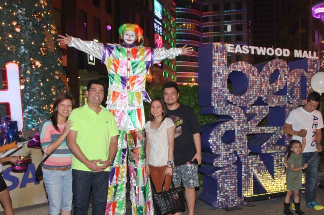 Families loved the costumes and photo ops at the Eastwood City New Year Countdown to 2014, December 31 at the Eastwood Mall Open Park. Photo by Jude Bautista