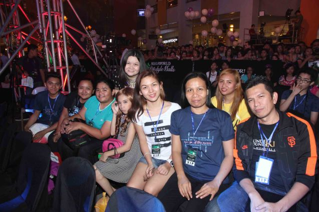 The Blu Jays is one of the most loyal Fan clubs for Jessica Sanchez. Famous entertainment writer Jamie Ortega is the lady standing behind them. Photo taken at the Eastwood City New Year Countdown to 2014, December 31 at the Eastwood Mall Open Park. Photo by Jude Bautista