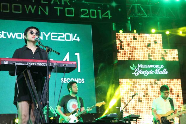 Up Dharma Down performs at Eastwood City New Year Countdown to 2014, December 31 at the Eastwood Mall Open Park. Photo by Jude Bautista