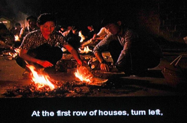 left: Yuanni (FanXu) talks to the souls of her husband and daughter while burning paper money. Catch AFTERSHOCK and many other Chinese films for free at Shang Cineplex, Shang Rila Plaza mall via the SPRING FILM FESTIVAL from January 24 to February 2, 2014.
