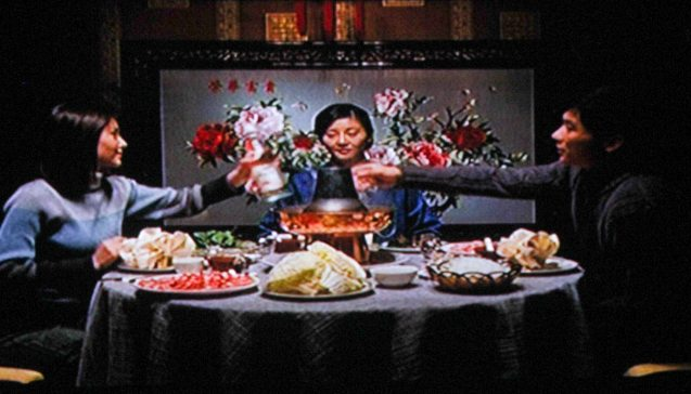 from right: Fang Da (Chen Li)  brings his mom Yuanni (Fan Xu) to a fancy restaurant to introduce his fiancé Xiao He played by Ziwen Wang. Catch AFTERSHOCK and many other Chinese films for free at Shang Cineplex, Shang Rila Plaza mall via the SPRING FILM FESTIVAL from January 24 to February 2, 2014.