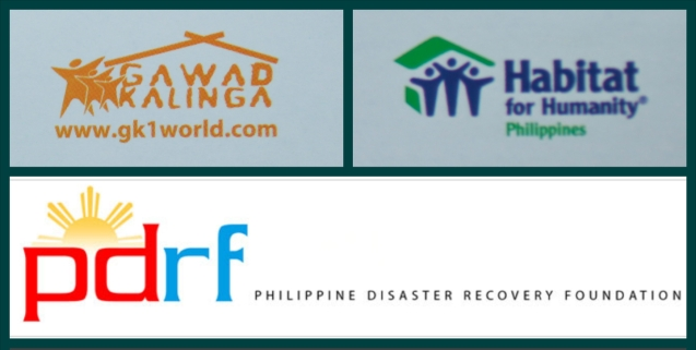 Beneficiaries: Log on to beneficiaries' websites to donate or for more information: PDRF- http://pdrf.org/index.htm ,  Gawad Kalinga- http://gk1world.com/  , Habitat for Humanity Phil-  http://www.habitat.org.ph/site/index.php