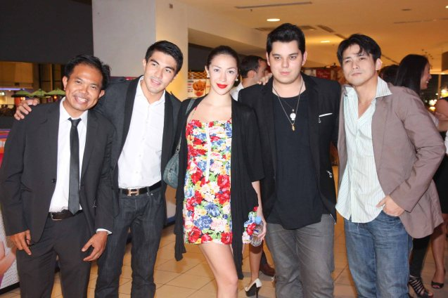 from left French Audiovisual Attaché Martin Macalintal, Luis Manzano, Madeleine Humphries, Raymond Gutierrez and Robin Padilla at Shang Cineplex, Shang Plaza during the opening of the French Film Fest last June 3, 2010.  Photo by Jude Bautista