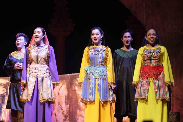 right: Hazel Maranan (Dancer), Dusty Suarez (Biaggio), Barbie Rodriguez (Hua), Pearl Gomez (Dancer) and Marvin Oliva (Demonte). Catch MARCO POLO AN UNTOLD LOVE STORY at the Meralco Theater February 8, 2014 at 8pm, February 9 at 3pm. Photo by Jude Bautista.