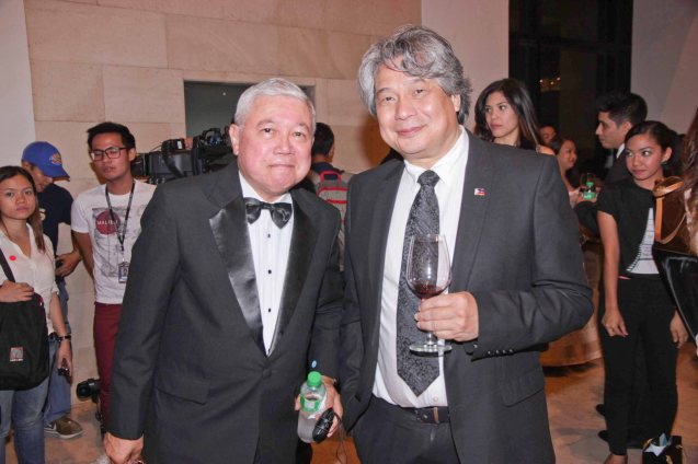 from left: GMA network's Special Assistant to the President Rod Cornejo and FDCP Chairman Briccio Santos. Photo was taken during the French Film Festival, which screens films for free from June 7-9, 2013 at Greenbelt 3 Cinema 3. Photo by Jude Bautista