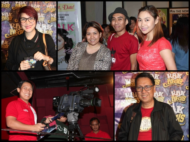 TOP from left: Jamie Rivera, PETA PR Supervisor Leloi Arcete, Writer Jude Cartalaba and GMA News Reporter Cata Inocencio. Bottom from left: GMA Balitanghali Anchor Raffy Tima and INTERAKSYON ace reporter Edwin Sallan. RAK OF AEGIS is a musical based on the hits of 90's band AEGIS. It will run from January 31 to March 9, 2014 at the PETA Theater Center. Photo by Jude Bautista