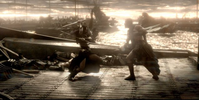 Stylized hand-to-hand combat is fought on land and sea. Photo from official website: http://www.300themovie.com/ 300 RISE OF AN EMPIRE opens on March 7, 2014 at Resort's World Manila, Lucky Chinatown Mall, Shang Rila Cineplex /East Wing and Eastwood Mall running now.