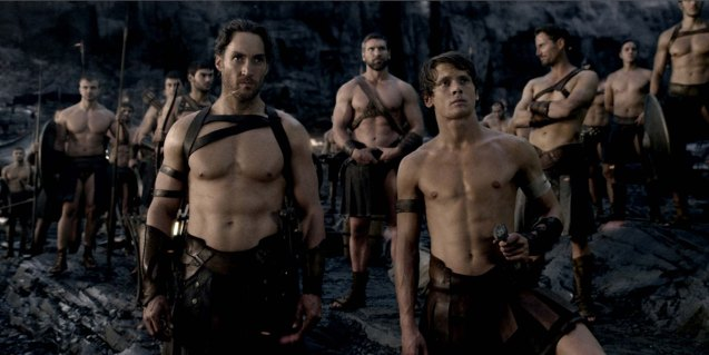 Foreground left: Scyllias (Callan Mulvey) father to Calisto (Jack O'Connell) lead the Greeks to battle. 300 RISE OF AN EMPIRE opens on March 7, 2014 at Resort's World Manila, Lucky Chinatown Mall, Shang Rila Cineplex /East Wing and Eastwood Mall running now.