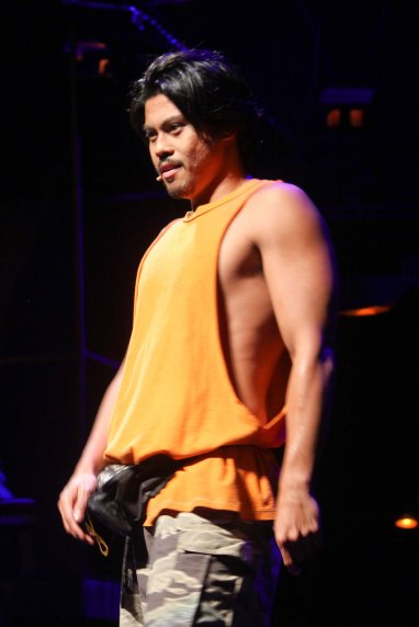 Jerald Napoles (Tolits) in RAK OF AEGIS, a musical based on the hits of 90's band AEGIS. It will run from January 31 to March 9, 2014 at the PETA Theater Center. Photo by Jude Bautista