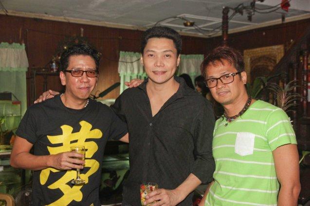 from left: Kanakan Balintagos, Mon Confiado and Hai Balbuena. Photo taken at Solito residence, Sampaloc,  Manila last March 4, 2014 by Jude Bautista.