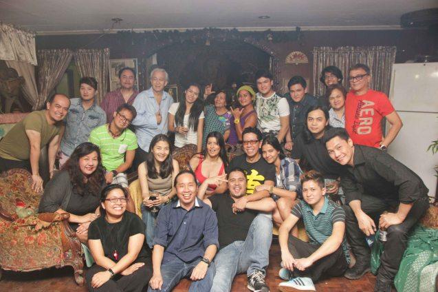 Actors and friends from Kanakan Balintagos's films: PISAY, BUSONG and BAYBAYIN :
