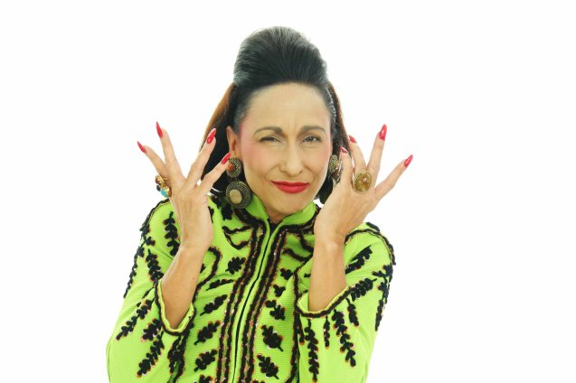 Photographed by Jo ann Bitagcol--Cherie Gil is style doyenne Diana Vreeland in FULL GALLOP by MY OWN MANN Prod. running from March 14-23, 2014 at the Carlos P Romulo Auditorium, RCBC Plaza.