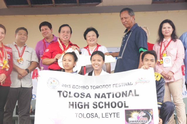 Tolosa National High School received 10 classrooms. Photo taken last February 10, 2014 in Tacloban, Leyte by Jude Bautista.