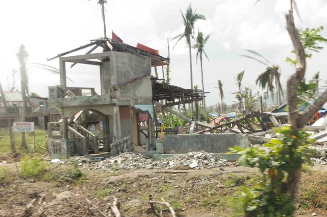 Thousands of homes were lost from typhoon Yolanda. Photo taken last February 10, 2014 in Tacloban, Leyte by Jude Bautista.
