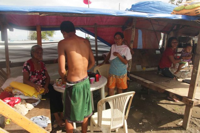More than 100 days later, people still live in tents in Tacloban. Photo taken last February 10, 2014 by Jude Bautista