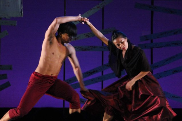 Carissa Adea and Richardson Yadao of Ballet Phil perform an excerpt from ROCK SUPREMO at PASINAYA festival in CCP. The 10th edition expanded to the National Museum and Metropolitan Museum and other establishments last March 16, 2014. Photo by Jude Bautista