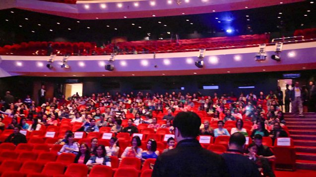 Filipinos fill the Grand Theatre at the Philippines Day event of the HKIFF. Photo provided by FDCP.