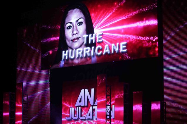 They called her 'The Hurricane' because they had a hard time pronouncing Julaton—'J' is pronounced as 'H' –HULATON. The historic fight was during ONE FC: Rise of Heroes at the Mall of Asia Arena last May 2, 2014