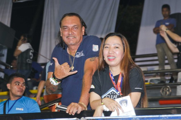 left: DLSU football coach Hans Smit. THE CLEAR DREAM MATCH was held at the sold out University of Makati Stadium last June 7, 2014. Photo by Jude Bautista