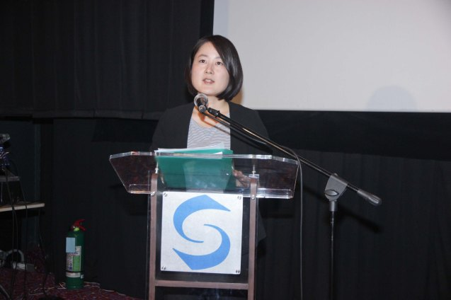Japan Foundation Asst. Dir Yukie Mitomi. The Eiga Sai Japanese Film Festival will run from July 4 to 13, 2014 at the Shang Cineplex, Shang Rila Plaza Mall. Photo by Jude Bautista