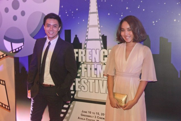 Lance Raymundo and Stylist Regina Raymundo. The 19th French Film Fest will run from June 10-16, 2014 at Greenbelt 3 Cinema 1, tickets are at 100 pesos. Photo by Jude Bautista