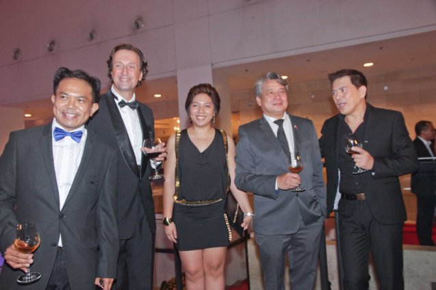 2nd from left H.E. French Amb. Gilles Garachon, from left: French AudioVisual Attaché Martin Macalintal, French Press Attache Camille Conde, FDCP Chairman Briccio Santos and Cannes Award winning filmmaker Brillante Mendoza. The 19th French Film Fest will run from June 10-16, 2014 at Greenbelt 3 Cinema 1, tickets are at 100 pesos. Photo by Jude Bautista