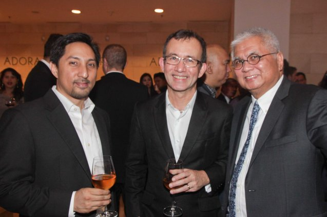 from left: TV5 Business Development Ian Monsod, TV5 Pres TV5 Pres. Noel Lorenzana and IBC Pres. Lito Ocampo Cruz. The 19th French Film Fest will run from June 10-16, 2014 at Greenbelt 3 Cinema 1, tickets are at 100 pesos. Photo by Jude Bautista