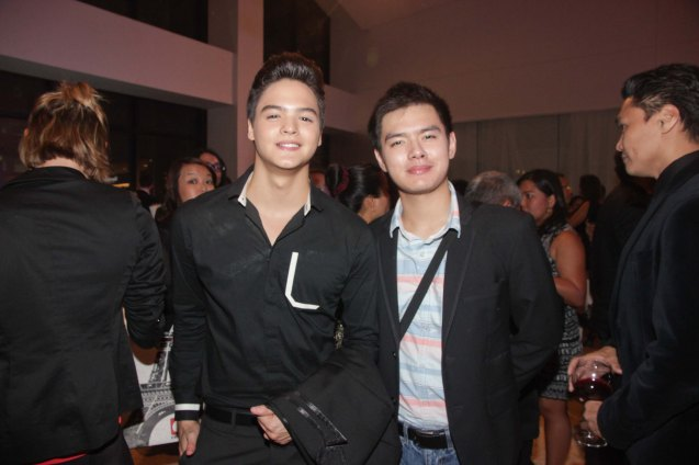 TV5 Artista Academy alums from left: Mark Neumann and Akihiro Blanco. The 19th French Film Fest will run from June 10-16, 2014 at Greenbelt 3 Cinema 1, tickets are at 100 pesos. Photo by Jude Bautista